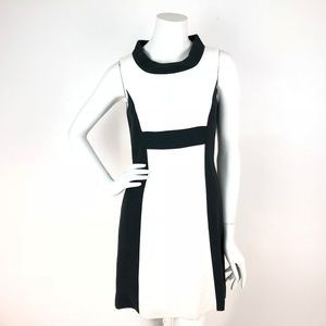 Rachel Zoe Dress Color Block Mod Retro Sleeveless